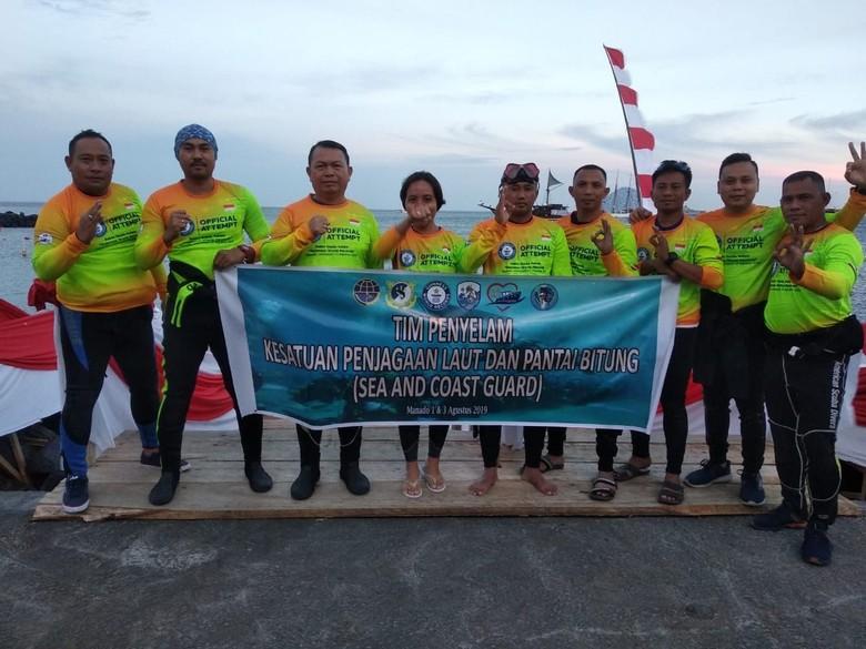 Kemenhub Ambil Bagian Pecahkan Rekor Dunia Penyelam di Manado