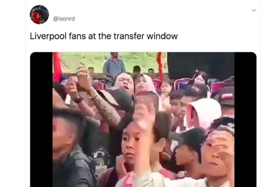 Fan Liverpool terdiam melihat klubnya tidak begitu aktif mencari pemain baru. Foto: istimewa