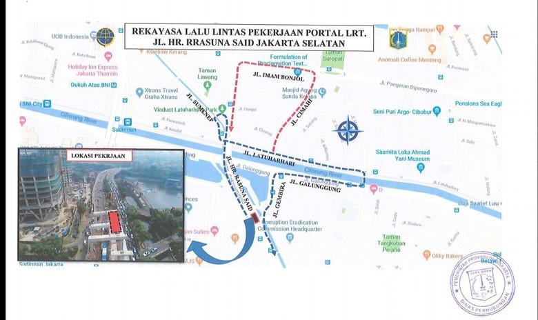 Ada Proyek LRT, Lalin di Jalan HR Rasuna Said Jaksel Direkayasa 10 Bulan
