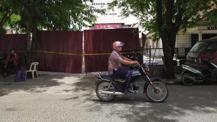 Lokasi pembangunan gedung KONI di Aceh yang disegel. (Agus Setyadi/detikcom)