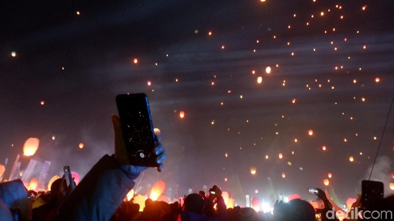 Lampion Dieng Culture Festival (DCF) 2019 (Uje Hartono/detikcom)