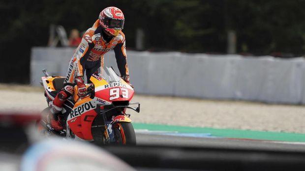 Marc Marquez selangkah lagi akan merebut gelar juara dunia MotoGP 2019.