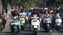 Kediri Scooter Festival, SIM Gratis Hingga Rekor MURI Tank Digelar