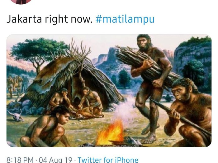 Meme mati lampu (Foto: Twitter)