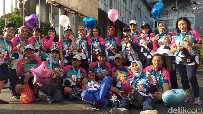 Surabaya Marathon 2019 diramaikan ribuan peserta. (Foto: Amir Baihaqi/detikSport)