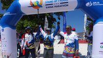 Tanding Paddling 8 Km di Belitung, Dirut BPJS TK Finis di 10 Besar