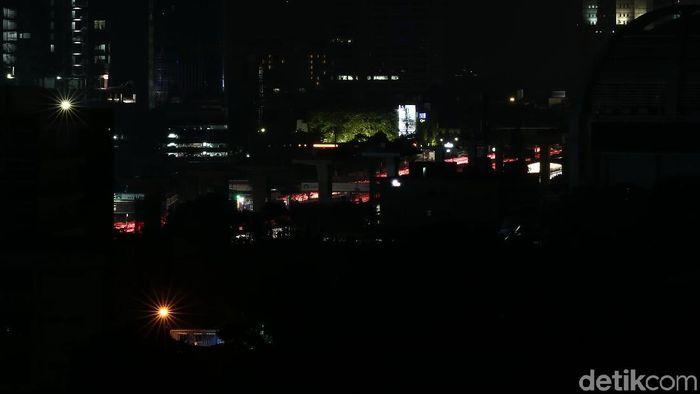 Suasana listrik padam massal/Foto: Muhammad Ridho