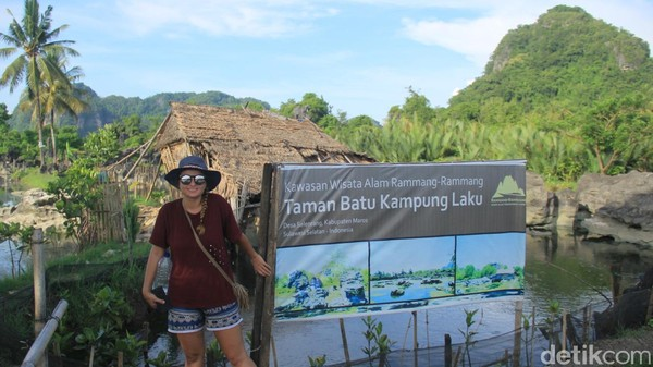 Objek wisata Rammang-rammang berada di Desa Salenrang, Kecamatan Bontoa, Maros, Sulawesi Selatan memang diapit oleh beberapa perusahaan tambang (Moehammad Bakrie/detikcom)