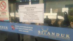 Efek Listrik Padam, Layanan Dukcapil Kota Bogor Offline Hari Ini