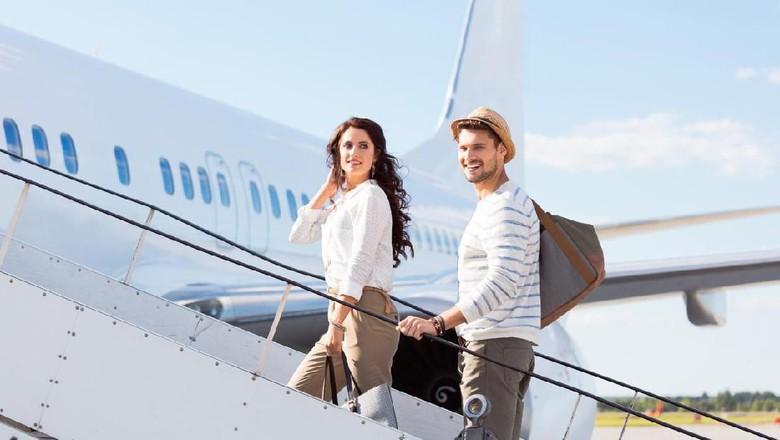Ilustrasi penumpang pesawat (iStock)