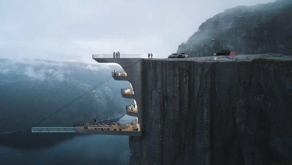 Mau Dibuat Kolam Kaca Setinggi 604 M di Tebing Ujung Dunia