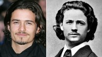 Orlando Bloom ternyata memiliki kembaran yakni seorang pelukis asal Romania bernama Nicolas Grigorescu. Dok. Ist