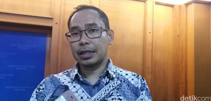 Foto: Direktur Perlindungan Warga Negara Indonesia dan Badan Hukum Indonesia Judha Nugraha. (Zakia-detikcom)