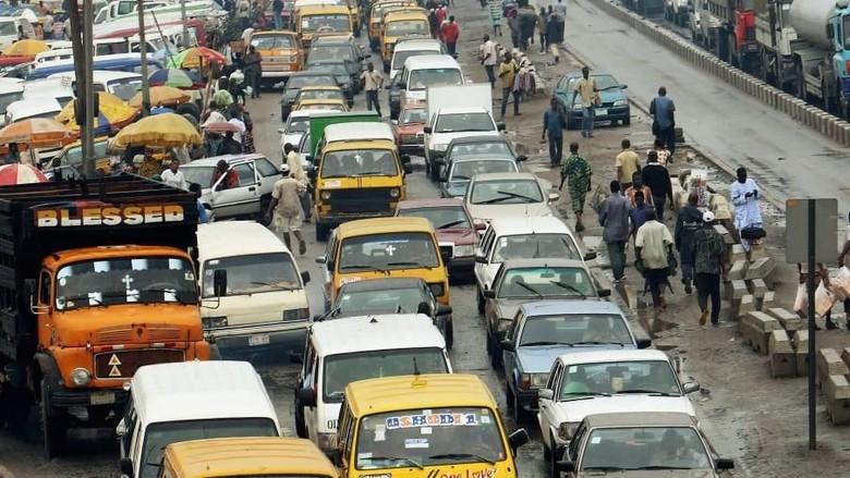 Kemacetan di Lagos, ibu kota Nigeria (CNN)