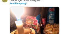 Netizen Curhat Soal Candle Light Dinner hingga Gagal Masak Saat Mati Lampu