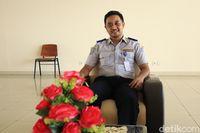 Staff Dishub DKI Jakarta, Krisna Febriatma (Randy/detikcom)