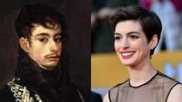 Ini baru berbeda, Anna Hathaway ternyata mirip dengan seorang pelukis pria bernama Franscisco Goya yang hidup di abad 18.Dok. Ist