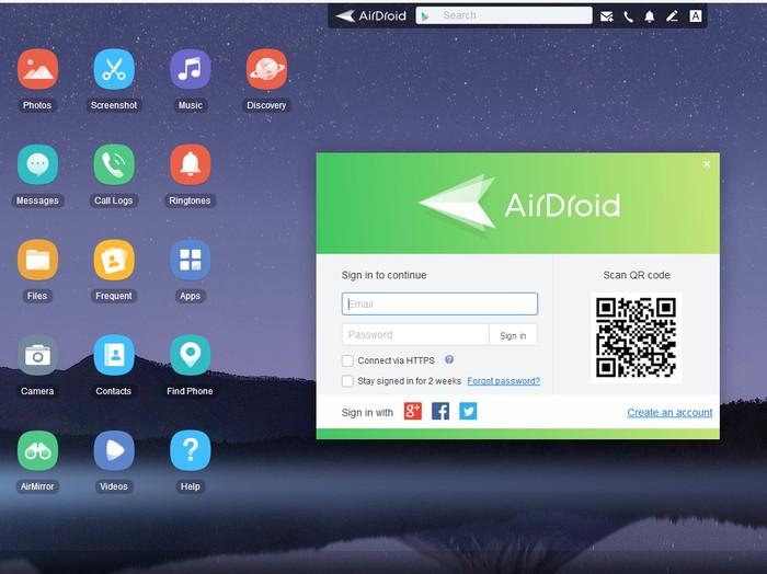 Cara Pakai AirDroid untuk Akses File Smartphone di PC Foto: Screenshot AirDroid