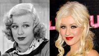 Christina Aguilera sepertinya memiliki wajah khas selebriti Hollywood, terbukti ia mirip dengan Ginger Rogers, seorang aktris tahun 40-an.Dok. Ist