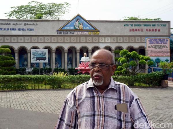 Pastor James mendapat ilham untuk membangun gereja ini sekitar tahun 2001, 4 tahun kemudian, sekitar tahun 2005, gereja unik ini selesai dibuat. (Wahyu Setyo/detikcom)