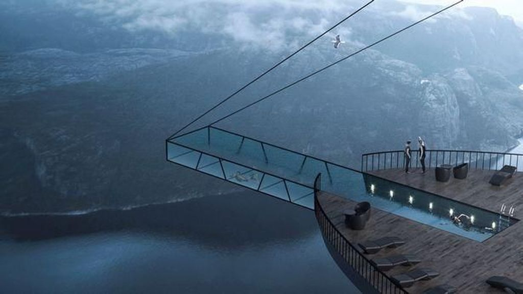 Foto: Rancangan Kolam Kaca di Tebing Ujung Dunia