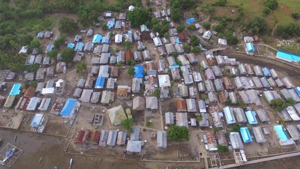 Desa Komodo terlihat dari kamera drone (dok istimewa)