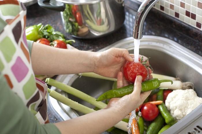 Cuci buah dan sayur