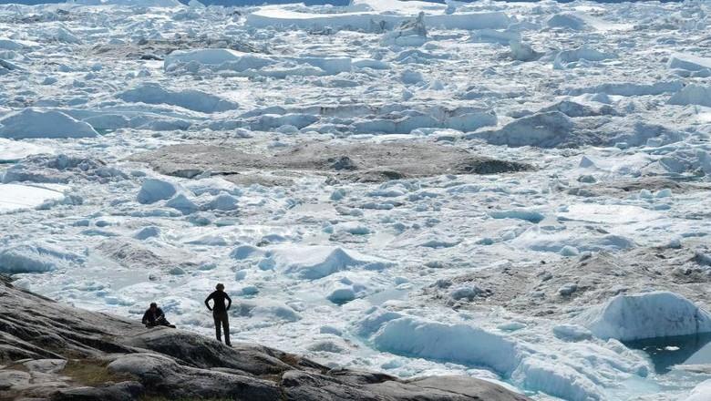 Greenland yang sebagian besar kawasannya tertutup es (Getty Images)