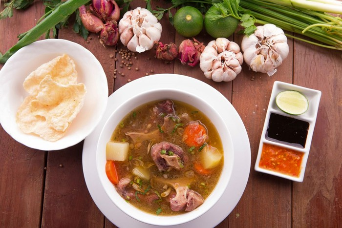 Indonesian Oxtail Soup or Sop Buntut