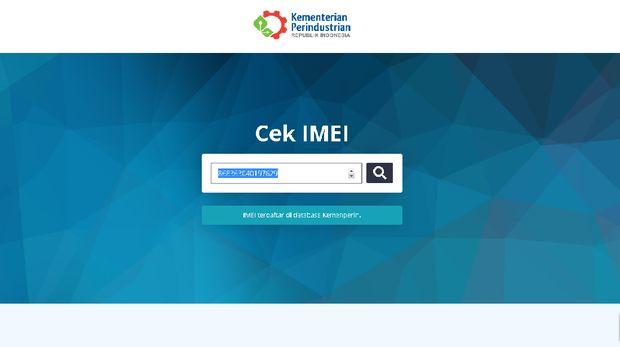 Situs Cek IMEI Kemenperin Bisa Diakses Kembali