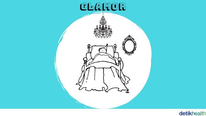 Penghuni kamar glamor punya banyak aksesoris yang menunjukkan kepribadian penghuninya. Menurut Prof Sam penghuni kamar glamor sengaja ingin menunjukkan dirinya bisa karena percaya diri atau ingin dianggap mengikuti tren. (Foto: detikHealth)