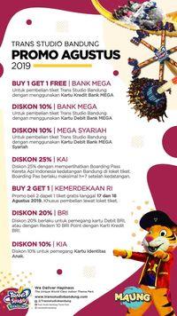 Trans Studio Bandung Promo Beli 2 Gratis 1 Sambut HUT RI