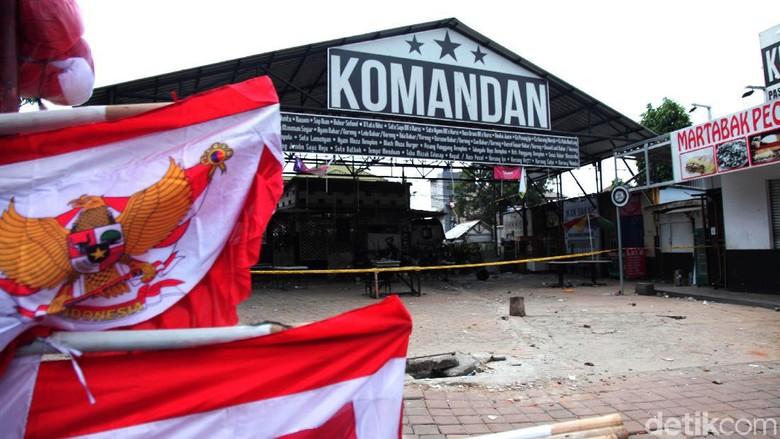 Pasca Kericuhan, Cafe Komandan Digaris Polisi