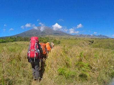 Momen 17 Agustus, Gunung Rinjani Sepi Pendaki