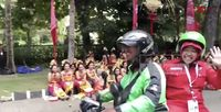Heboh & Viral! Risma Naik Gojek ke Kongres PDIP Bali