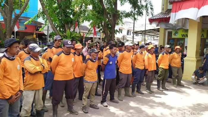 Pasukan oranye Banda Aceh. (Agus/detikcom)