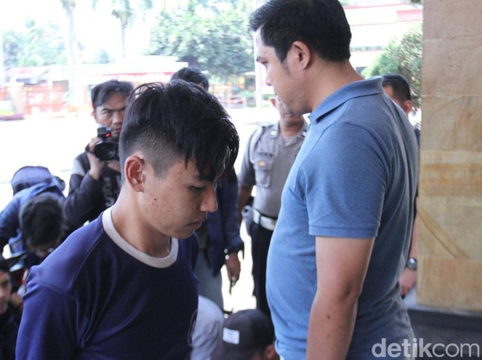 Pelaku pembunuhan terhadap NAM. (Foto: Wisma Putra/detikcom)