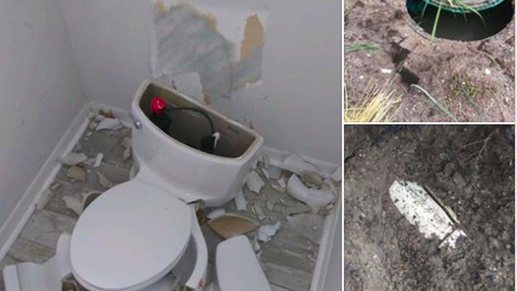 Toilet di Rumah Meledak Dahsyat Gara-gara Septic Tank Tersambar Petir
