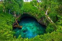 Satu tempat yang sangat identik dengan keindahan Samoa adalah To Sua Ocean Trench. To Sua Ocean Trench adalah kolam alami yang berada di Pulau Upolu. (iStock)