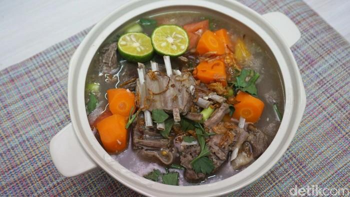 sup kambing bening