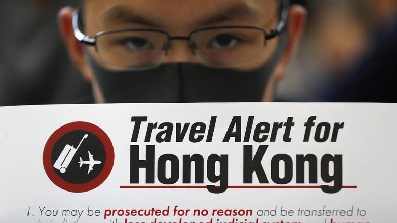 Aksi demo di Hong Kong yang lumpuhkan pariwisatanya (Vincent Thian/AP Photo)