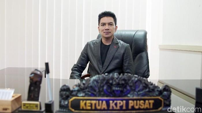 Agus Suprio, Ketua KPI Pusat saat ditemui di kantornya.