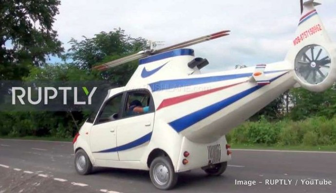 Tata Nano Dimodif Mirip Helicopter