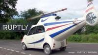 Melansir situs Rush Lane, Prasad bersama seorang rekan tergerak membuat sebuah prototipe helikopter, yang bisa digunakan di jalan raya. Proyek modifikasi ini memakan biaya sekitar Rs 7 lakh (Rp 141,2 juta). Foto: Pool (RushLane)