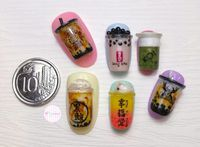 Boba Milk Tea Kini Diwujudkan Jadi Nail Art Unik