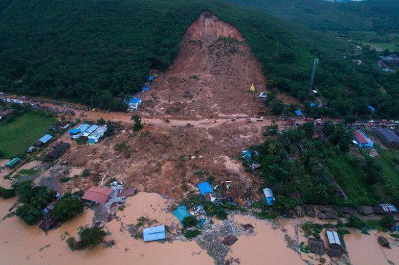 Longsor di Myanmar, 13 Orang Tewas