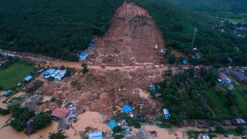 Korban Tewas Tanah Longsor Myanmar Bertambah Jadi 22 Orang, 100 Hilang