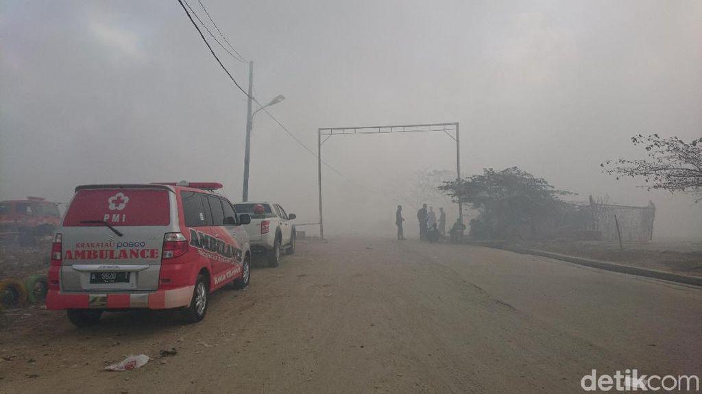 Kebakaran TPSA Cilegon Seminggu Belum Padam, Ratusan Warga Mengungsi
