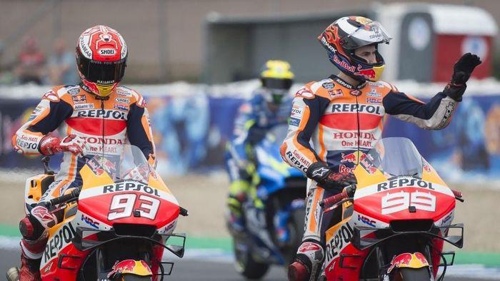 Jorge Lorenzo Ikhlas Honda memprioritaskan Marc Marquez. (Foto: Jorge Guerrero / AFP)