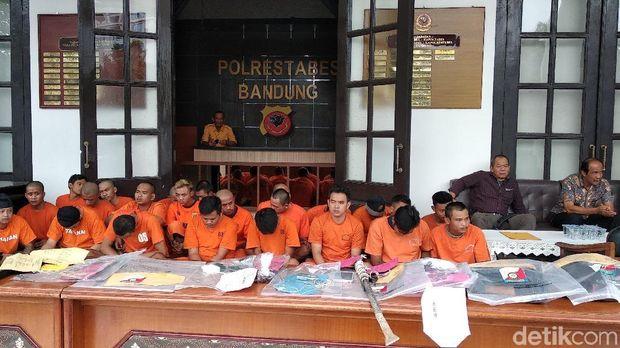 Selama Sepekan, Polisi Tangkap 28 Bandit yang Berulah di Bandung